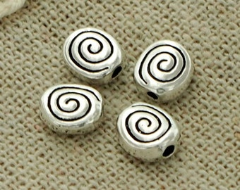 4 of 925 Sterling Silve Shell Beads 5.5x6.5 mm. :th2160