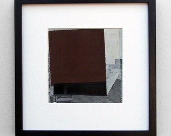Red Square, Moscow (with Suprematist addition) - original framed collage