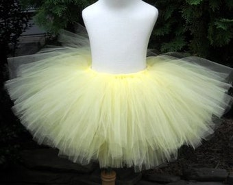 Soft Yellow Teen or Adult Tutu