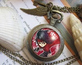Final Fantasy VII 7 FF7 Vincent Cloud Aerith Sephiroth Tifa Cid Yuffie Red XIII necklace bronze antique pocket watch  keychain key chain featured image