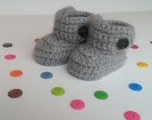 Baby Booties, Crochet Baby Booties, Baby Boots.