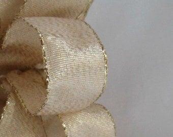 "Gold WIre Ribbon...7/8"" X  15 Feet"