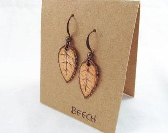 Little Beech Leaf Earrings