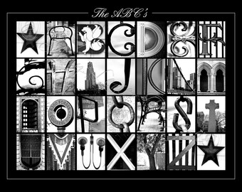 ABC's Alphabet Photography Letter Art - 11x14