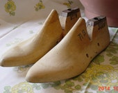 Two Antique Wooden Shoe Last Cobblers Shoe Mold Form
