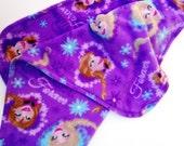 Elsa and Anna Princess Baby Blanket - Cuddly Lavender Fleece Stroller Blanket