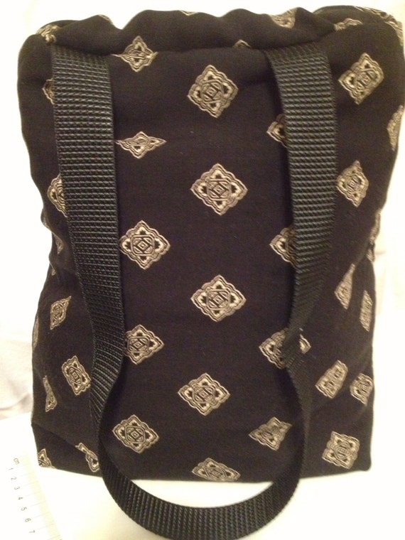 Lunch Bag, Adult Lunch Tote, Black Lunchbag, Insulated Lunch Bag, Eco Friendly Fabric Tote, Thermal Tote Bag