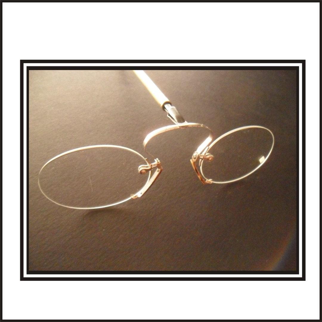 antique pince nez reading glasses 5