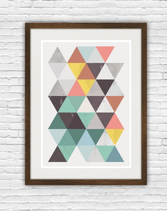 Abstract poster geomertric art scandinavian print