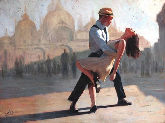 romantic paintings of couples dancing