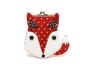 Scarlet red fox card holder wallet