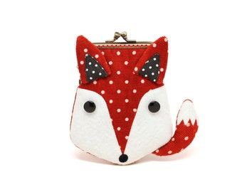 Scarlet red fox card holder wallet