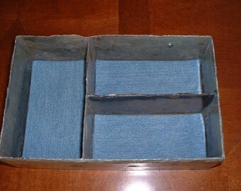 Valet tray three compartments for watches and jewelry #DT-21