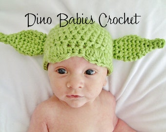 Yoda Hat Baby Star Wars Beanie Chunky Crochet