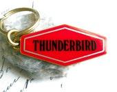 Thunderbird Keychain Brass Enameled Vintage