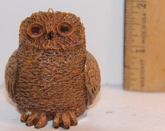 Tan Owl Figurine/Ornament