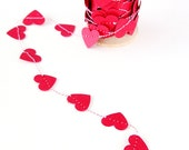 Red Hot Heart Paper Garland and Trim - 9 ft - Ships FREE