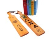 Vintage College Fraternity Wooden Paddles Set of 2 Athletic Trophy Frat Paddle Sports Decor