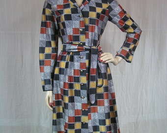 Vintage 1970's Button front Dress