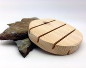 Hand Sanded Round Cedar Natural Soap Deck Wood Spa Soap Dish 12 pack