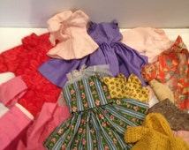 Vintage Handmade Doll Clothes Various Sizes