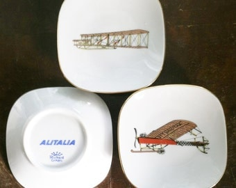 Dish Airline Souvenir Alitalia Italian Airlines Richard Ginori Antionette