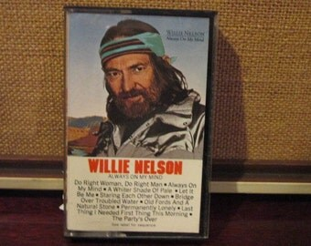 Tested and Working Vintage Audio Cassette Tape Willie Nelson Always on My Mind VG Condition