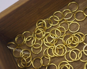 Jewelry handmade must-have thick jump rings--gold- plated 300pcs-F1222