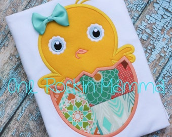Chick in Patchwork Egg - INSTANT DOWNLOAD