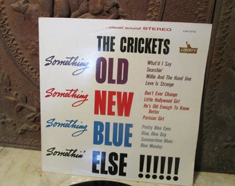 """Vintage 1984, """"The Crickets"""" vinyl record with cover, on the """"Liberty"""" label!"""