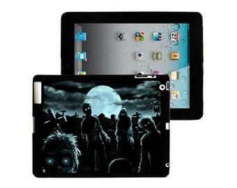 iPad 2/3/4 - iPad Mini - snap on plastic case - Zombie Moon