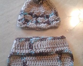 Crochet Newborn Hat and Diaper Cover Set