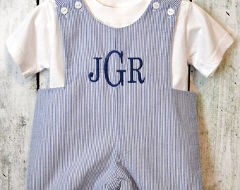 Baby Boy Shortalls Johnjohns Personalized  Monogrammed