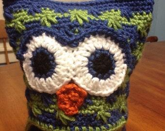 Square Owl Hat -- Animal Hat -- Crochet -- Newborn/infant/child/adult