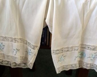 Vintage 1960s Vassarette long panties lingerie lacy embroidered