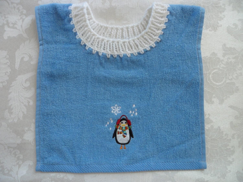 pullover baby bib towel bib penguintowel bib by. Black Bedroom Furniture Sets. Home Design Ideas