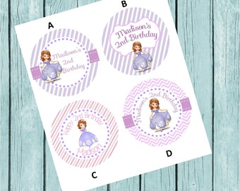 Sofia the First Sticker Labels- Printed and Shipped to You!