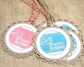 Easter Tags, Easter Blessings, Tags, Easter Basket Tags, Set of 6, Handmade tags