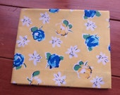 country floral cotton fabric - woven fat quarter