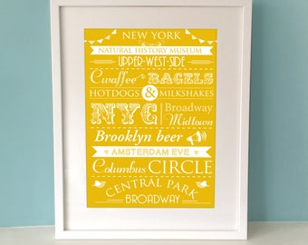 Personalised City Print, New York, London, Sydney, Rome, Paris...