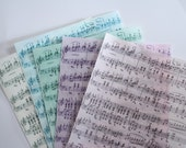 3 sheets sheet music printed wafer paper (choose one color) for cake decorating or cupcake decorating. Edible paper prints.