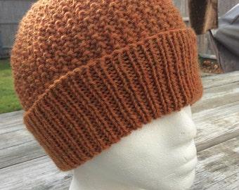 Men's Knit Hat, Men's Knit Beanie,  Wool Hat, Menswear, Knit Hat for Men