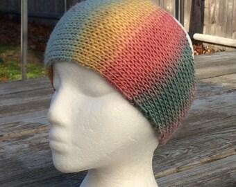 Knit headband, Rainbow Headband, Hair Accessory,  Headband, Knit Ear Warmer