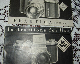 PRAKTICA Camera Instructions for Use Manuals 1-English 1-German