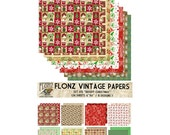 "Scrapbooking Craft Paper Pack (24pcs 6""x6"") FLONZ 015 Bright Christmas"