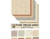 "Scrapbooking Craft Paper Pack (24pcs 6""x6"") FLONZ 049 Provence Pallor"