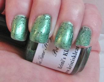 Tea Time Fragranced Nail  Polish, Green Tea fragranced, glitter nail polish