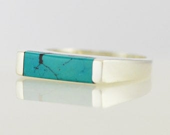 Bar None Turquoise Ring