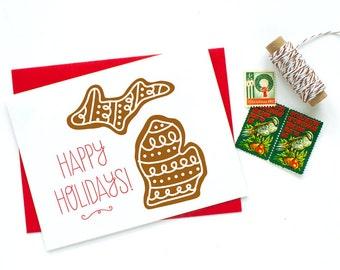 Michigan - Gingerbread Holiday Card