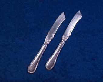 Antique Wm A Rogers Eudora Silver Plate Fruit or Butter Knives